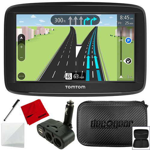TomTom VIA 1625TM 6` Portable Touchscreen Car GPS Navigation + Accessories Kit