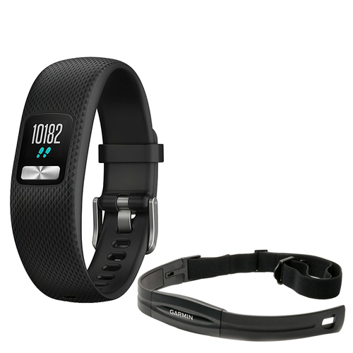 Garmin vivofit 4 Activity Tracker (Large, Black) with Heart Rate Monitor Chest Strap