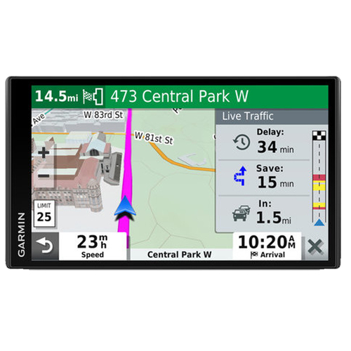 Garmin DriveSmart 65 & Traffic with Included Cable: GPS Navigator with a 6.95` Display
