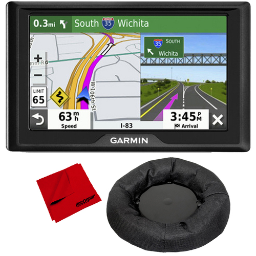 Garmin Drive 52 5` GPS Navigator with Traffic Alerts & Weighted GPS Dash Mount + More