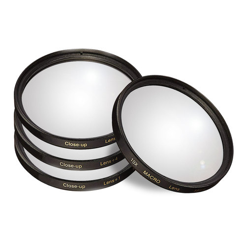 58mm 4pc HD Macro Close-Up Lens Filter Set +1 +2 +4 +10 with Protective Wallet