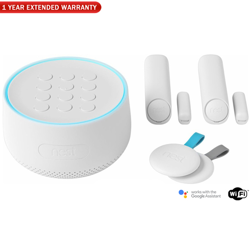 Nest Secure Alarm System Starter Pack w/ 1 Year Extended Warranty