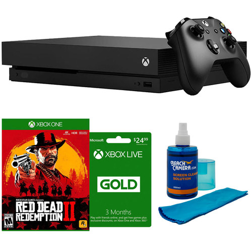 Xbox One X 1TB Console with Red Dead Redemption 2 and 3-Month Xbox Live Bundle