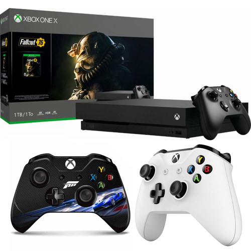 Microsoft Xbox One X 1 TB Fallout 76 with Wireless Controller & Controller Skin Bundle