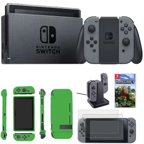 Nintendo Switch 32 GB Console w/ Gray Joy Con + Accessories Bundle