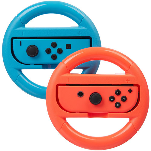 Deco Gear Steering Wheel for Nintendo Switch - Blue/Red (2 Pack)