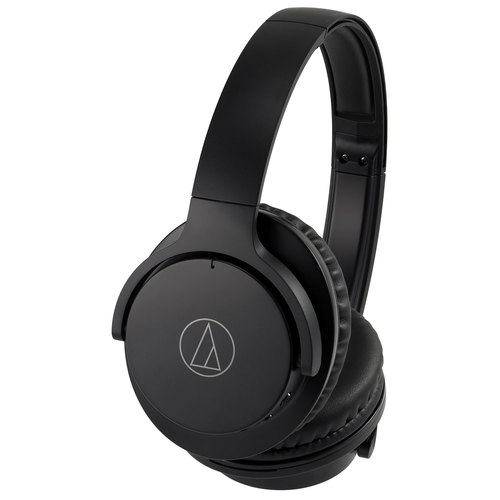 Audio-Technica QuietPoint Wireless Active Noise-Cancelling Headphones ATH-ANC500BT-BK