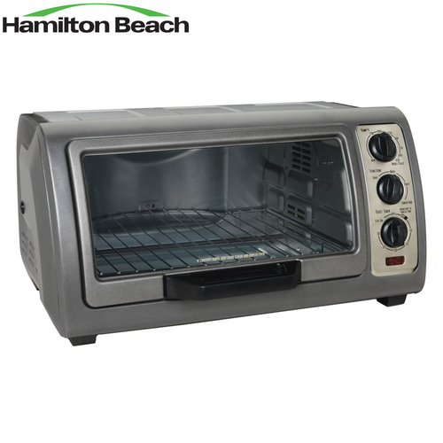 Hamilton Beach 31126 - Easy Reach 1400 watts Oven w/ Convection, Silver - Certified Refurbished