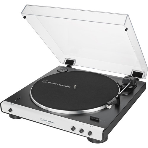 Audio-Technica AT-LP60XBT-WH Fully Automatic Belt-Drive Bluetooth Stereo Turntable Black/White