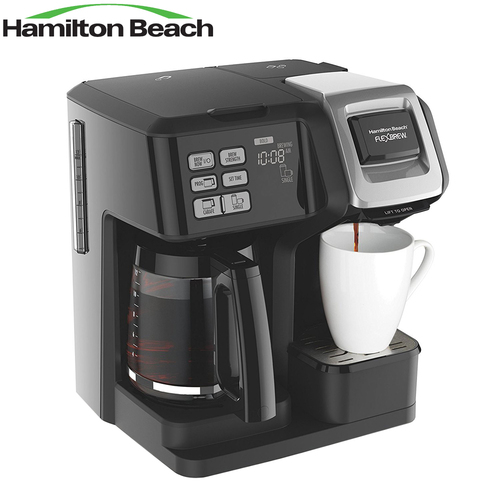 Hamilton Beach 49976 FlexBrew 2-Way Brewer Programmable Coffee Maker - Certified Refurbished
