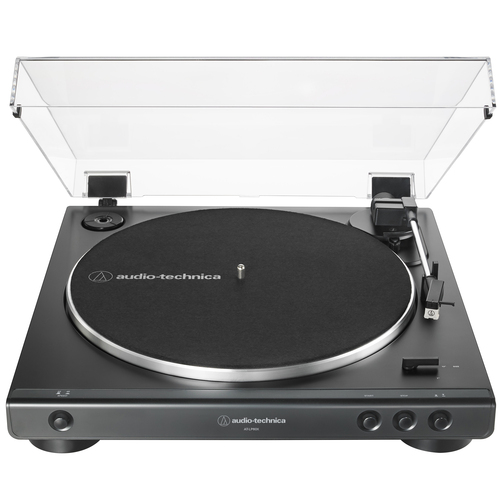 Audio-Technica AT-LP60X-BK Fully Automatic Belt-Drive Stereo Turntable 33-1/3 & 45 RPM - Black