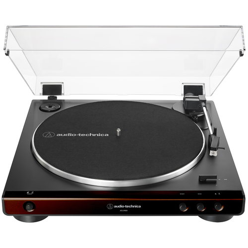 Audio-Technica AT-LP60X-BW Fully Automatic Belt-Drive Turntable 33-1/3 & 45 RPM - Brown/Black