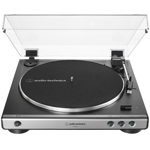 Audio-Technica AT-LP60X-GM Fully Automatic Belt-Drive Turntable 33-1/3 & 45 RPM -Gunmetal/Black