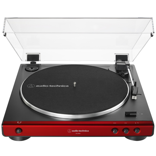 Audio-Technica AT-LP60X-RD Fully Automatic Belt-Drive Turntable 33-1/3 & 45 RPM - Red/Black