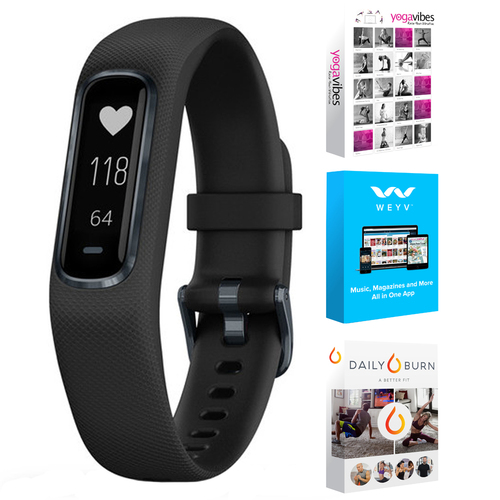 Garmin Vivosmart 4 Activity & Fitness Tracker Black Large + Fitness Suite