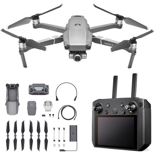 DJI Mavic 2 Zoom Quadcopter Drone with 24-48mm Lens and Smart Controller