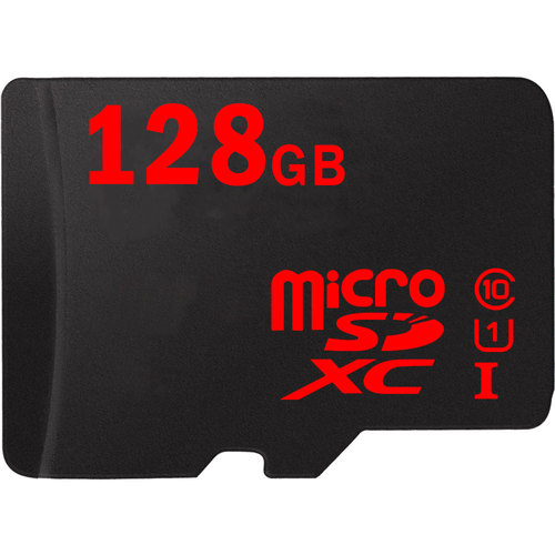 128GB MicroSDXC High-Speed Memory Card with SD adapter