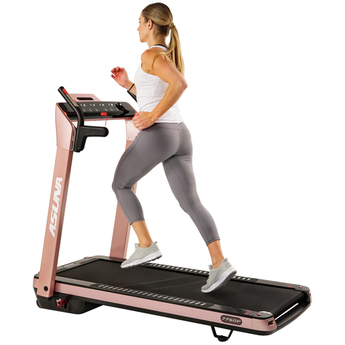 Sunny Health and Fitness ASUNA SpaceFlex Motorized Running Treadmill with Auto Incline, Pink 7750P