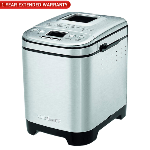 Cuisinart CBK-110 Compact Automatic Bread Maker, Silver w/ 1 Year Extended Warranty