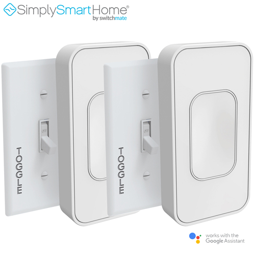 Switchmate 2-Pack Voice-Activated Wire-Free Smart Toggle, No Hub Required - (Refurbished)