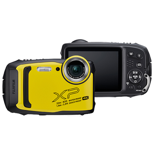 Fujifilm FinePix XP140 Waterproof Digital Camera (Yellow) with 16GB SD Card Bundle