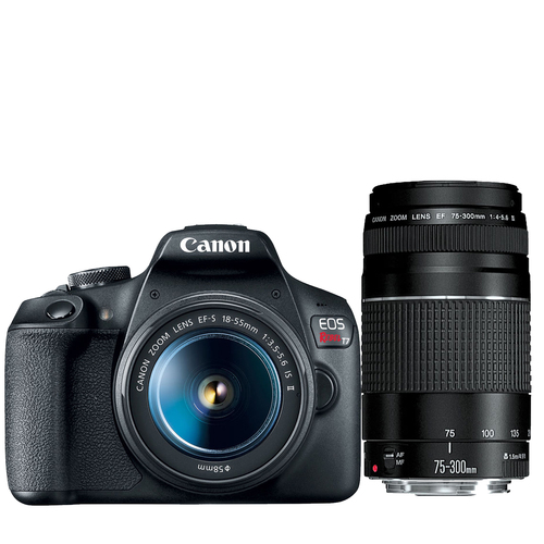 Eos Rebel T7 Dslr Camera With Ef18 55mm Ef 75 300mm Double Zoom Kit