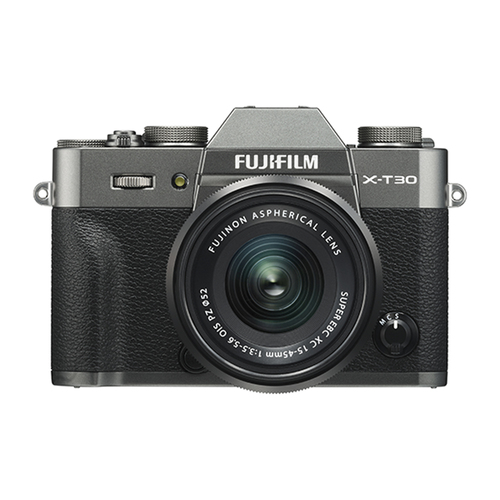 Fujifilm X-T30 Mirrorless Camera and XC15-45mm F3.5-5.6 OIS PZ Lens Kit (Charcoal Silver)