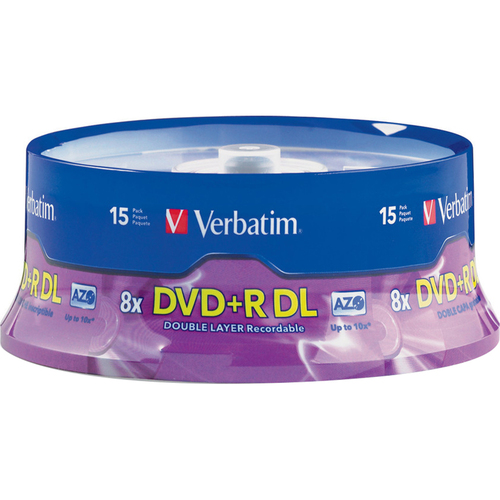Verbatim DVD+R DL 8.5GB 8X Branded 15pk