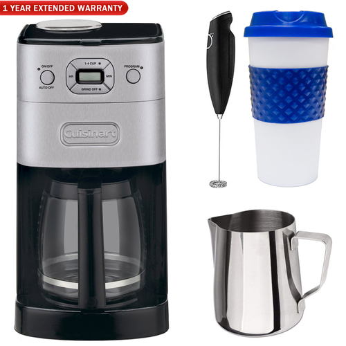 Cuisinart Grind-and-Brew 12-Cup Automatic Coffeemaker (Refurb) w/ Warranty Bundle