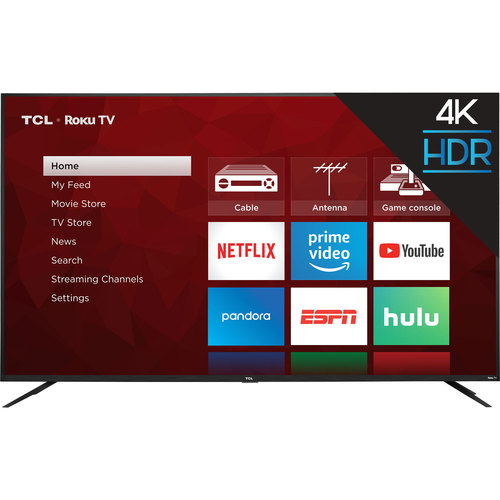 TCL 75S425 75` 4-series 4K Ultra HD Roku Smart TV (2019 Model)