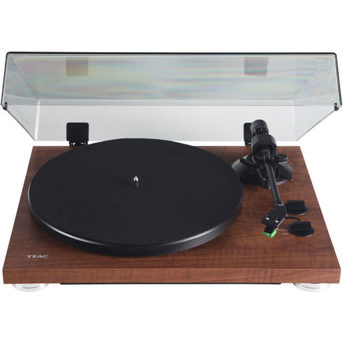 Teac 2-Speed Analog Belt-Drive Turntable with USB Digital Output Walnut TN-300SE-WA