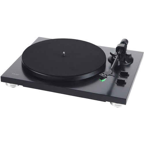 teac 2-speed analog belt-drive turntable with usb digital output matte  black tn-300se | buydig com