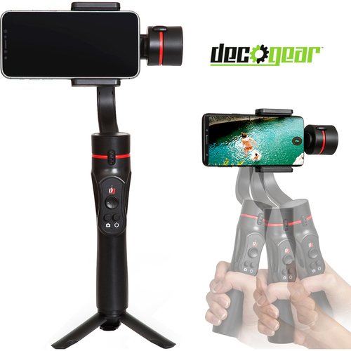 Deco Gear 3-Axis Handheld Cell Phone Gimbal Stabilizer iOS/Android Compatible GIM100BK