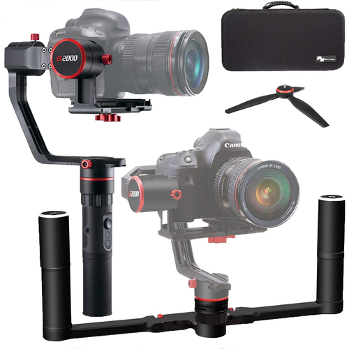 Feiyutech a2000 3 Axis 360 Degree Handheld Gimbal for Mirrorless/DSLR Camera & Carry Case