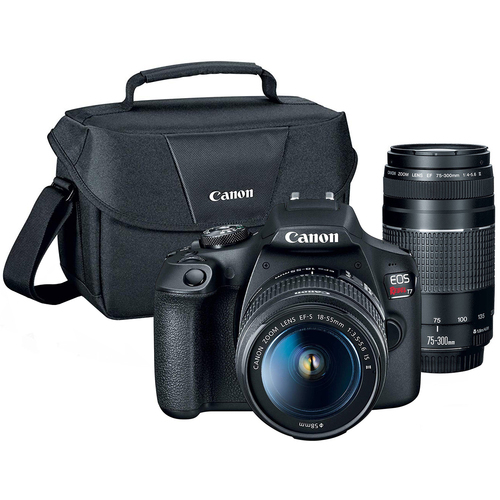 Canon EOS Rebel T7 DSLR Camera with EF18-55mm + EF 75-300mm Double Zoom Kit