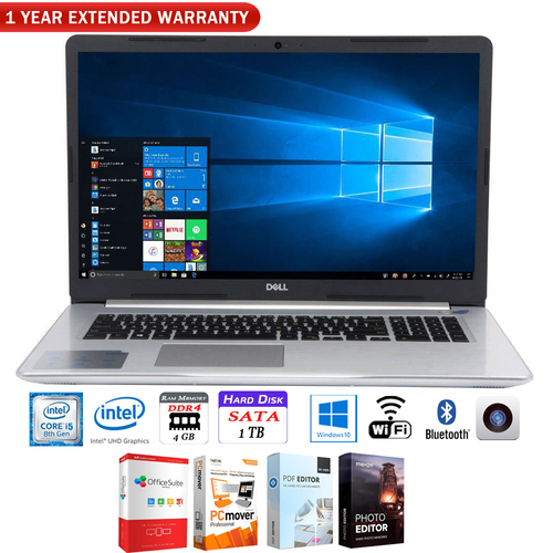 Dell Inspiron 15 5570 15.6` Intel Core i5 8250U Laptop +1 Year Extended Warranty Pack