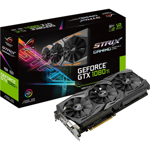 ASUS ROG STRIX GeForce GTX 1080 TI 11GB VR Ready 5K HD Gaming Graphics Card