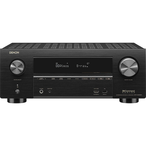 Denon AVR-X3500H 7.2 Channel 4K AV Receiver with 3D Audio | Home Theater System