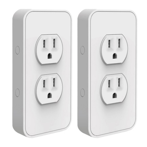 Snap-on Smart Power Outlet with Voice Controls Refurbished 2 Pack
