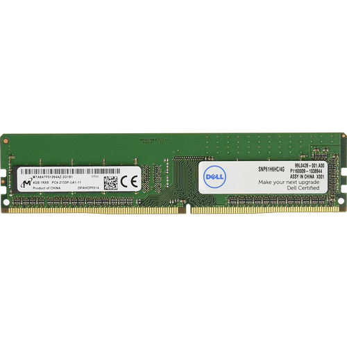 Dell 4GB 1RX8 DDR4 UDIMM 2133MHz Memory Upgrade - SNP61H6HC/4G