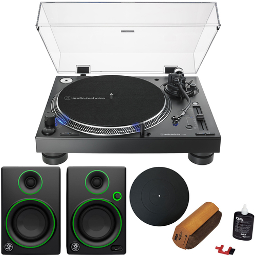Audio-Technica AT-LP140XP Direct-Drive Professional DJ Turntable with Audio Immersion Bundle