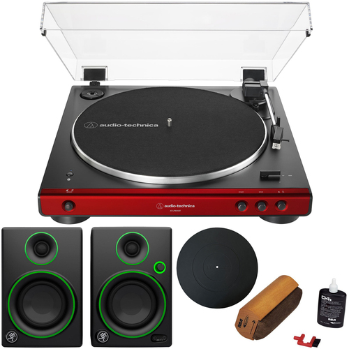 Audio-Technica Fully Automatic Bluetooth Stereo Belt-Drive Turntable w/ Audio Immersion Bundle