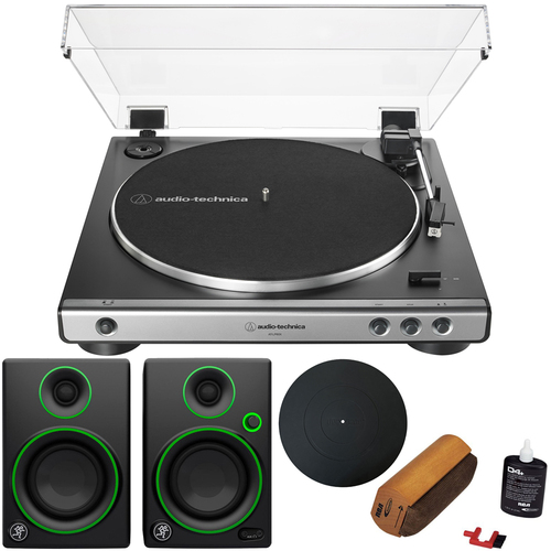 Audio-Technica AT-LP60X Fully Automatic Turntable - Gunmetal Black w/ Audio Immersion Bundle
