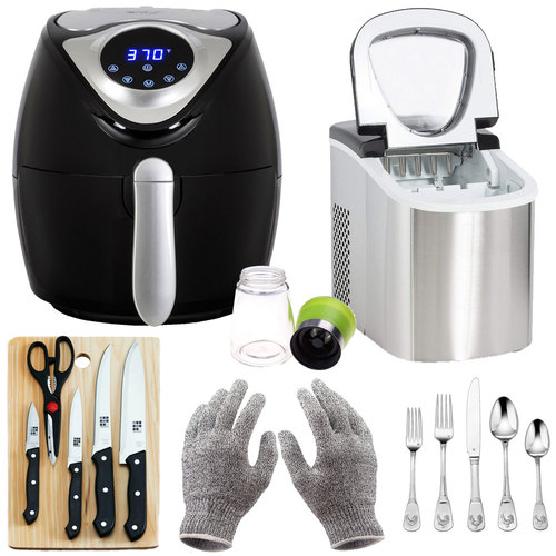 Deco Chef Ultimate House Warming Bundle with Air Fryer, Ice Maker and More!
