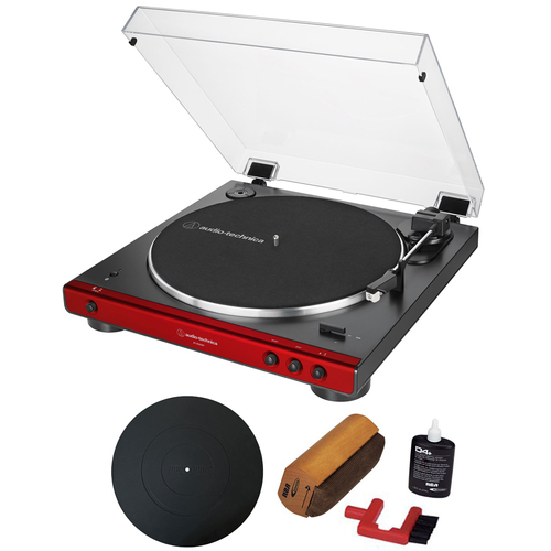 Audio-Technica Fully Automatic Bluetooth Stereo Belt-Drive Turntable + Essentials Bundle