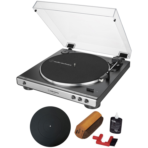 Audio-Technica Fully Automatic Analog/USB Belt-Drive Turntable+Essentials Bundle