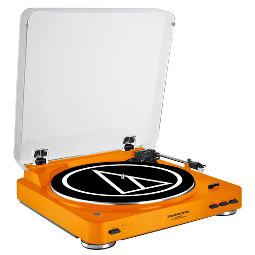 Audio-Technica AT-LP60-BT Fully Automatic Bluetooth Stereo Turntable System (LE Orange)