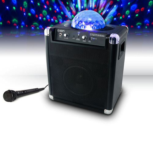 Ion Audio Party Rocker Live Bluetooth Portable System with Microphone Built-In Light Show