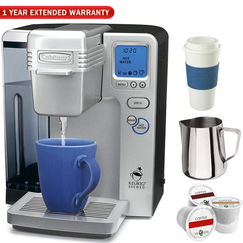 Cuisinart SS-700 Single Serve Keurig Brewing System (Refurbished) w/ Coffee Drinker Bundle