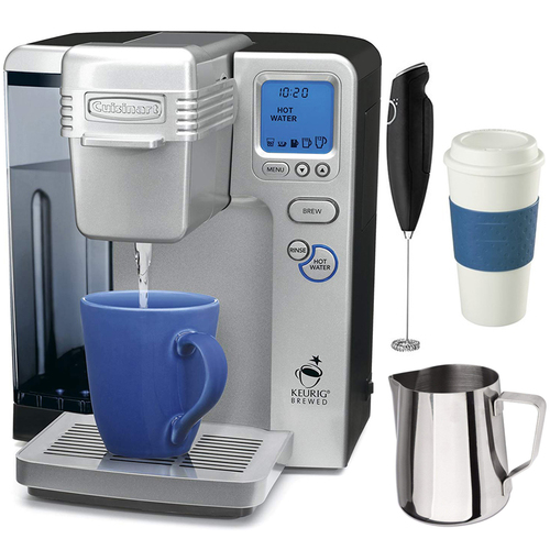 Cuisinart SS-700 Single Serve Keurig Brewing System (Refurbished) w/ Premium Coffee Bundle